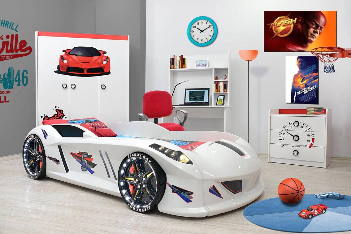 Letto bambino cars letto macchina auto formula 1 cameretta - Letto bambino macchina ...